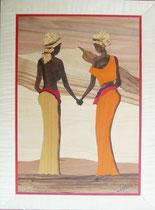Les deux africaines main dans la main (295/400)