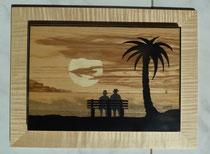 Sur le banc au clair de lune 2 (420/310)