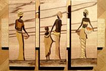 Triptyque les africaines et l'enfant 2 (480/300)