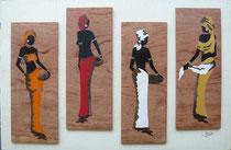 Quadriptyque femmes africaines (615/405)