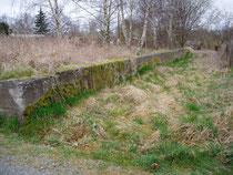 Rampe mit Blick auf das Gleisbett