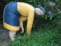 Betonfigur-Gartenfigur-Gärterin, ca. 85cm hoch