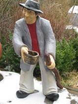 Betonfigur-Gartenfigur-Vagabund, stehend, ca. 100cm hoch