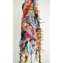 Violette Vegh-Jameson . Australia Crochet nest | mixed media h 670 x w 200 x d 200 (mm) AU$420