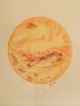 "Charles Blackman. Australia "" Sleeping girl "" etching 26/90 signed  D 240 mm  $ 960.00"