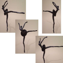 Amelia Ballerina . 2013 cedar saw dust, natural pigments and french polish. Signed and dated. SOLD