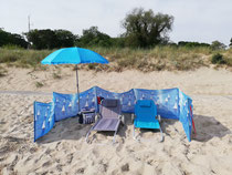 was in der Wohnung ist kann für den Strandtag genutzt werden