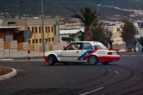 Los pilotos de rallys se sumaron al espectáculo