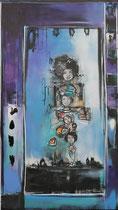 Acrylic and Oil on Canvas, 75x130cm / 4 cm