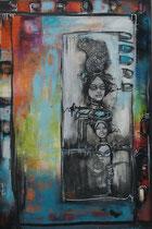 Acrylic and Oil on canvas, 120x80cm