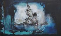 Acrylic/oil on canvas, 150x90cm/5cm