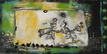 Acrylic/Oil on canvas,  70 x 120cm/5cm