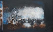 Acrylic and Oil on Canvas, 100x160cm / 2cm