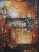 Acrylic/Oil on canvas,  90x120cm/2,5cm