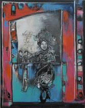 Acrylic/Oil on canvas,  120 x 95cm/4cm