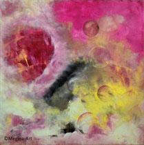 träumen und schweben, Acryl 50x50