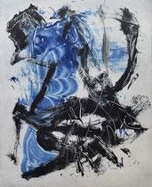 Monotypie 48, 40 x 30 cm, Druckfarbe auf Papier, 2018