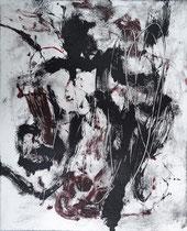 Monotypie 2, 40 x 30 cm, Druckfarbe auf Papier, 2018