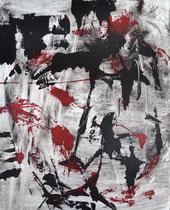 Monotypie 40, 40 x 30 cm, Druckfarbe auf Papier, 2018
