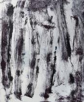 Monotypie 20, 40 x 30 cm, Druckfarbe auf Papier, 2018