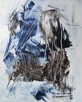 Monotypie 23, 40 x 30 cm, Druckfarbe auf Papier, 2018