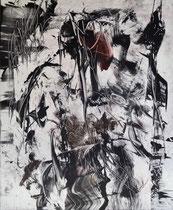 Monotypie 56, 40 x 30 cm, Druckfarbe auf Papier, 2018