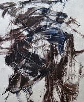 Monotypie 51, 40 x 30 cm, Druckfarbe auf Papier, 2018