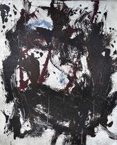 Monotypie 41, 40 x 30 cm, Druckfarbe auf Papier, 2018