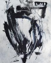 Monotypie 44, 40 x 30 cm, Druckfarbe auf Papier, 2018
