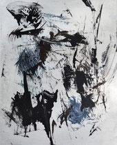 Monotypie 29, 40 x 30 cm, Druckfarbe auf Papier, 2018