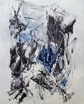 Monotypie 50, 40 x 30 cm, Druckfarbe auf Papier, 2018