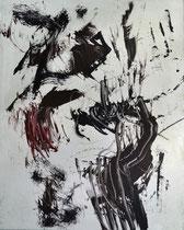 Monotypie 31, 40 x 30 cm, Druckfarbe auf Papier, 2018