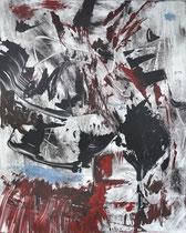 Monotypie 39, 40 x 30 cm, Druckfarbe auf Papier, 2018