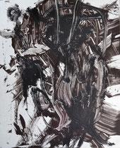 Monotypie 19, 40 x 30 cm, Druckfarbe auf Papier, 2018
