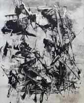 Monotypie 54, 40 x 30 cm, Druckfarbe auf Papier, 2018