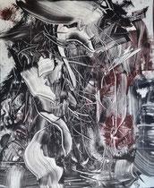 Monotypie 47, 40 x 30 cm, Druckfarbe auf Papier, 2018