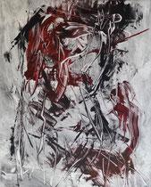 Monotypie 55, 40 x 30 cm, Druckfarbe auf Papier, 2018