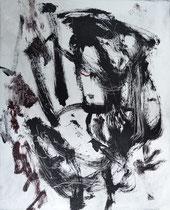 Monotypie 4, 40 x 30 cm, Druckfarbe auf Papier, 2018