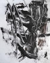 Monotypie 26, 40 x 30 cm, Druckfarbe auf Papier, 2018
