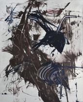 Monotypie 30, 40 x 30 cm, Druckfarbe auf Papier, 2018