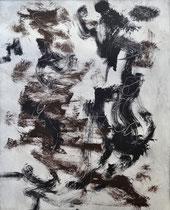 Monotypie 53, 40 x 30 cm, Druckfarbe auf Papier, 2018