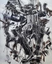 Monotypie 52, 40 x 30 cm, Druckfarbe auf Papier, 2018