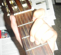 B-Dur ohne Zeigefinger-Barré.