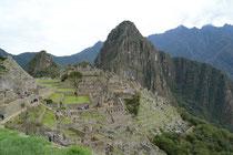 Inkastadt Machu Picchu, 2400 müM, Peru