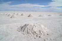 Salzabbau, Salar de Uyuni, Bolivien