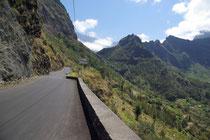 Strasse nach Cilaos