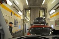 """""""Le Shuttle"""" im Eurotunnel"""