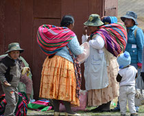 Campesinos bei Tiwanaku, Bolivien