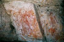 Felszeichnungen bis 20'000 Jahre alt, Arnhemland