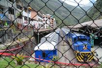 Bahnhof von Aguas Calientes
